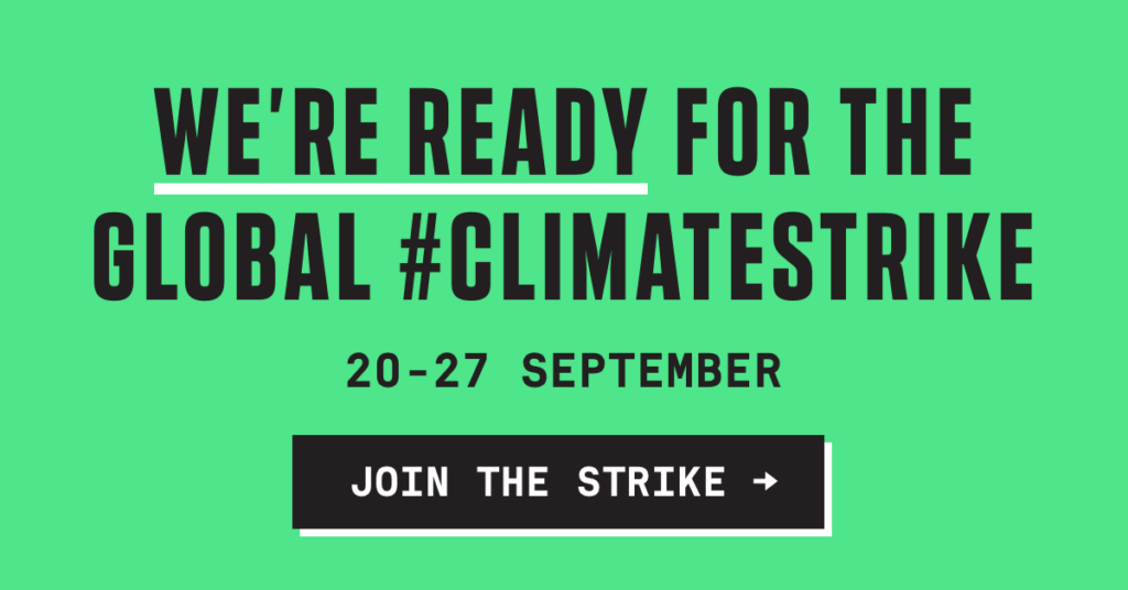 Ready for the Global #ClimateStrike Banner Ad